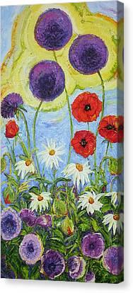 Meegan's Garden Of Flowers Canvas Print by Paris Wyatt Llanso