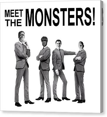 Meet The Monsters Canvas Print by Evelyn Joya