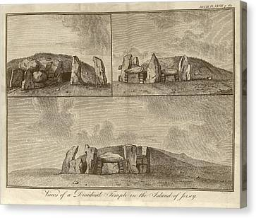 Megalithic Monument Canvas Print by Middle Temple Library