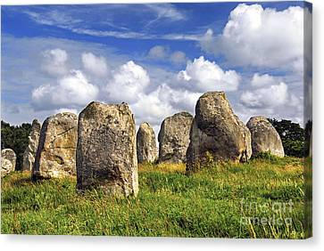 Megalithic Monuments In Brittany Canvas Print by Elena Elisseeva