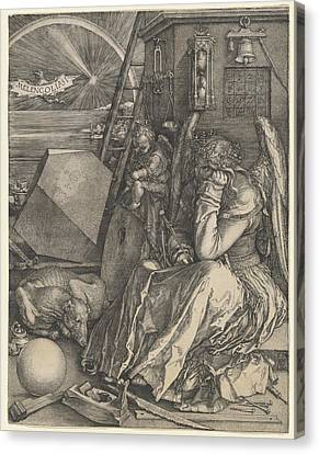 Melancholia I Canvas Print by Albrecht Durer