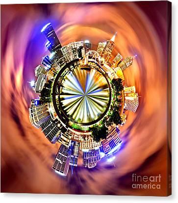 Melbourne City Skyline Circagraph Canvas Print by Az Jackson