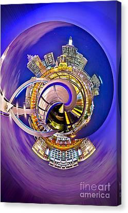 Melbourne City Skyline Circagraph 2 Canvas Print by Az Jackson