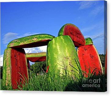 Melonhenge Canvas Print by Joe Jake Pratt