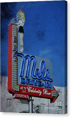 Mels Drive In Celebrity Bar Canvas Print by Janice Rae Pariza