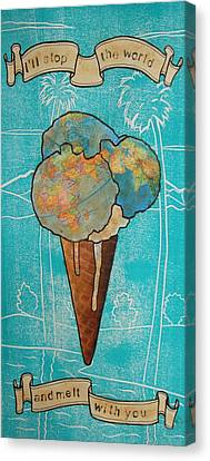 Melt With You Canvas Print by Philip Haxby Thompson