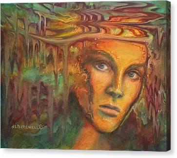 Melting Crowns Canvas Print by Debra Lynn Birchell