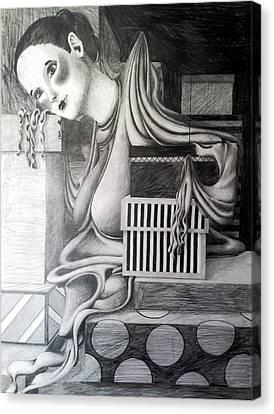 Melting Girl Canvas Print by Ava Dahm
