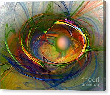 Melting Pot-abstract Art Canvas Print by Karin Kuhlmann