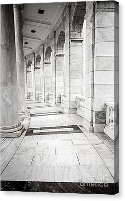 Memorial Amphitheater Corridor - Arlington National Cemetery  Canvas Print by Gary Whitton