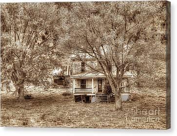 Memories Behind The Trees Canvas Print by Dan Friend