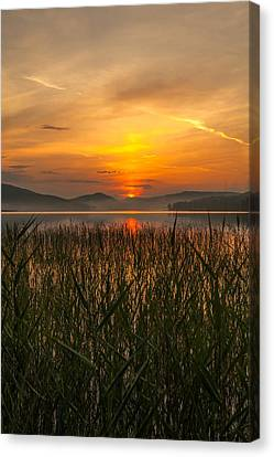 Memories Of A Sunset 2 Canvas Print by Rose-Maries Pictures