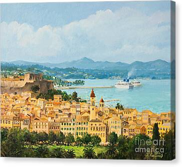 Memories Of Corfu Canvas Print by Kiril Stanchev