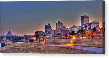 Cityscape - Skyline - Memphis At Dawn Canvas Print by Barry Jones