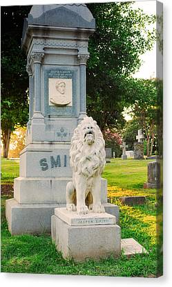 Memphis Elmwood Cemetery - Guarding Jasper Canvas Print by Jon Woodhams