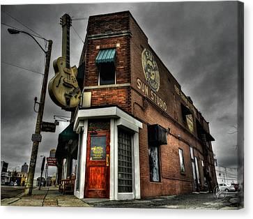 Memphis - Sun Studio 002 Canvas Print by Lance Vaughn
