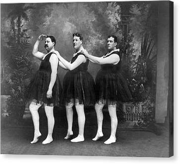 Men In Tights And Tutus Canvas Print by -