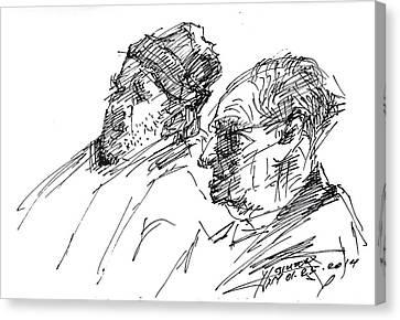 Men Canvas Print by Ylli Haruni