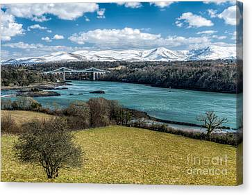 Menai Bridge 1819 Canvas Print by Adrian Evans