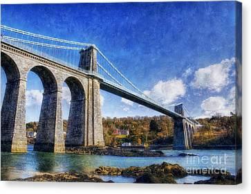 Menai Susupension Bridge Canvas Print by Ian Mitchell