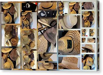Mens Hats Canvas Print by Joyce Woodhouse