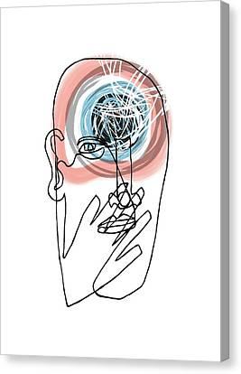 Mental Health Canvas Print by Paul Brown