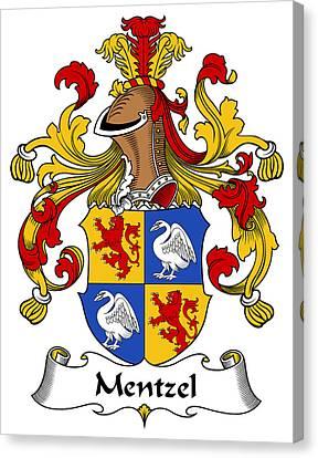 Mentzel Coat Of Arms German Canvas Print by Heraldry