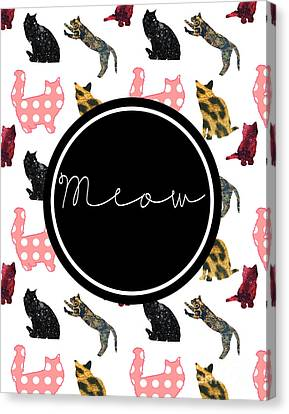 Meow Canvas Print by Pati Photography