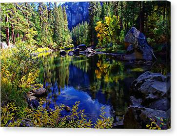 Merced River Yosemite National Park Canvas Print by Scott McGuire