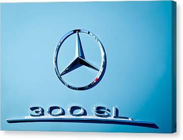Mercedes 300 Sl Emblem -0190c Canvas Print by Jill Reger