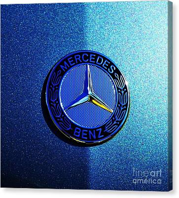 Mercedes Light And Shade Canvas Print by Marcus Dagan