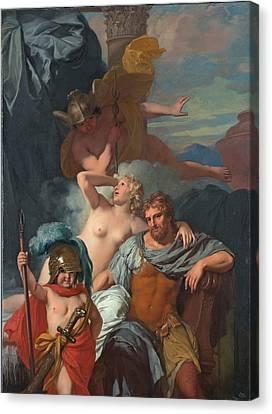 Mercury Ordering Calypso To Release Odysseus Canvas Print by Gerard de Lairesse