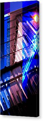Merged - Blue Barbed Canvas Print by Jon Berry
