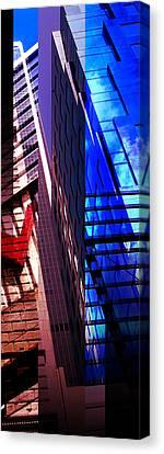 Merged - City Blues Canvas Print by Jon Berry OsoPorto