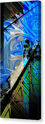 Merged - Painted Blues Canvas Print by Jon Berry