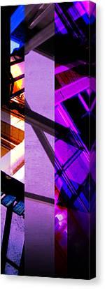 Merged - Purple City Canvas Print by Jon Berry
