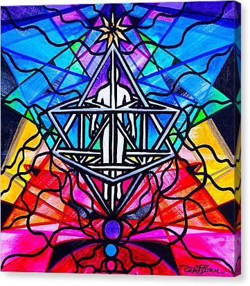 Merkabah Canvas Print by Teal Eye  Print Store