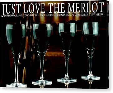 Merlot Wine Canvas Print by Toppart Sweden