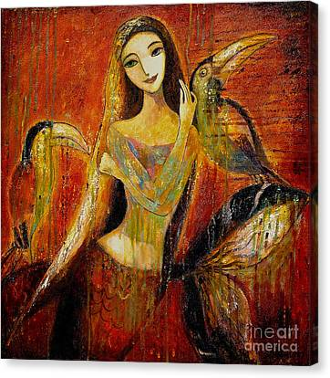Mermaid Bride Canvas Print by Shijun Munns