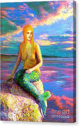 Mermaid Magic Canvas Print by Jane Small
