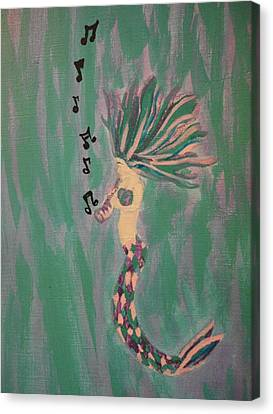 Mermaid Tunes 2 Canvas Print by Erica  Darknell