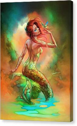 Mermaid's Wish Canvas Print by Shannon Maer