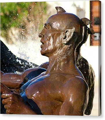 Merman - Littlefield Fountain University Of Texas  Canvas Print by Mark Weaver