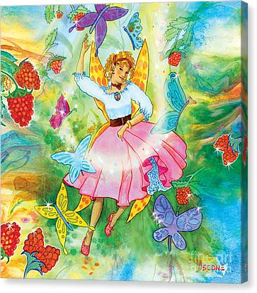 Merri Goldentree Dances Canvas Print by Teresa Ascone