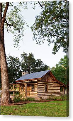 Merriman Cabin Historic Structure Canvas Print by Larry Ditto