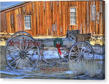 Merry Christmas From Our Outfit To Yours  Canvas Print by Donna Kennedy