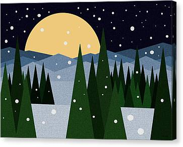 Merry Christmas Canvas Print by Val Arie