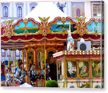 Merry Go Round Canvas Print by Mindy Newman