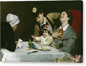 Merrymakers Canvas Print by Charles Emile Auguste Carolus-Duran