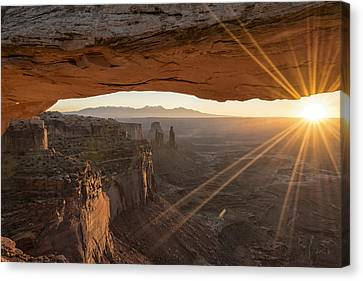 Mesa Arch Sunrise 4 - Canyonlands National Park - Moab Utah Canvas Print by Brian Harig